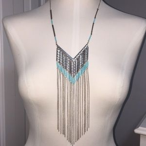 Gorgeous ⭐️ chain-fringe necklace
